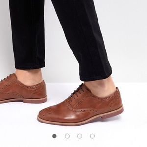 BP Nordstrom Oxford wingtip loafers in chestnut